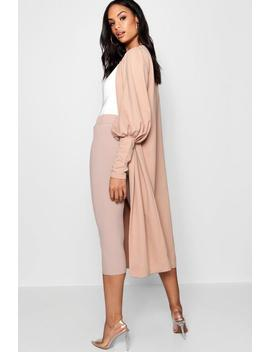 Tie Waist Balloon Sleeve Duster Tie Waist Balloon Sleeve Duster by Boohoo