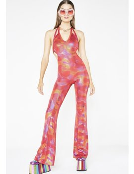 Molten Sun Flared Jumpsuit by Club Exx