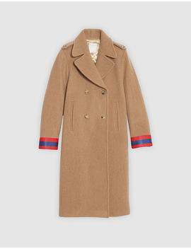 Wool Coat With Fancy Cuffs by Sandro Eshop