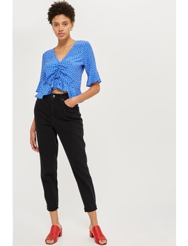 Petite Black Mom Jeans by Topshop