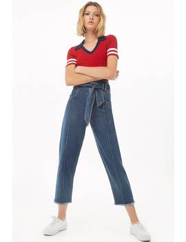 Belted Cropped Jeans by Forever 21