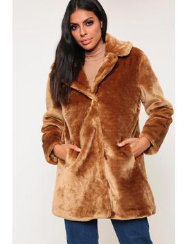 Camel Relaxed Fit Faux Fur Coat by I Saw It First