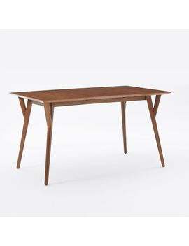 "Mid Century Expandable Dining Table, 39"" To 55"", Walnut by West Elm"