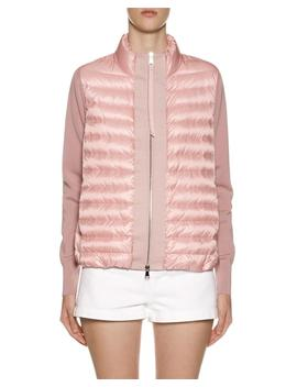 Knit & Down Combo Cardigan by Moncler