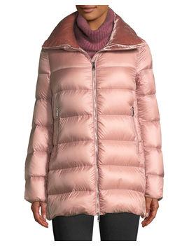 Torcol Puffer Coat W/ Velvet Collar by Moncler