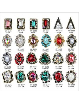 10pcs/Lot, 3d Nail Art Ancients Alloy Decorations With Ab Side Rhinestones,Diamonds,Jewelry On Nails Salon Supplies by Beaumall