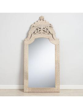 Whitewash Wood Peacock Mirror by World Market