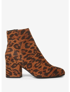 Wide Fit Multi Coloured Leopard Design 'aubree' Ankle Boots by Dorothy Perkins
