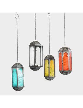 Embossed Glass Hanging Lantern by World Market