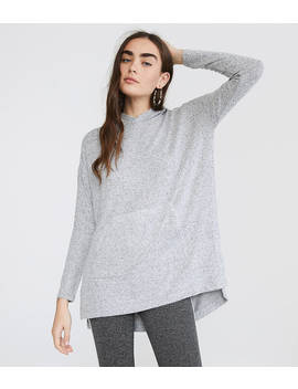 Lou & Grey Brushmarl Hoodie Top by Loft