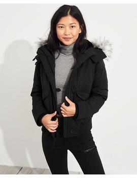 Down Bomber Jacket by Hollister