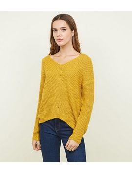 Jdy Mustard V Neck Knit Jumper by New Look