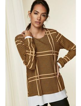 Ochre Check Layered Top by Wallis