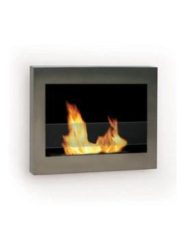 Anywhere Fireplace 27.5 In Single Burner Stainless Steel Gas Fireplace by Lowe's
