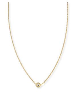 18k Gold Single Diamond Necklace by Roberto Coin