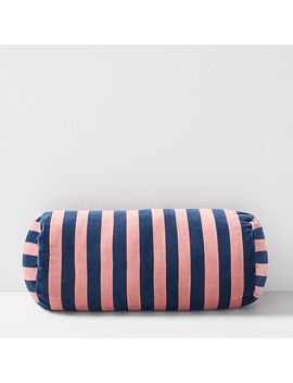 Christina Lundsteen Stripe Bolster Pillow by West Elm