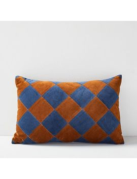 Christina Lundsteen Check Pillow by West Elm