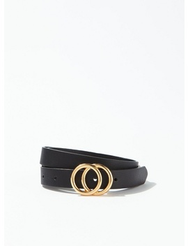 Black Mini Double Circle Belt by Miss Selfridge