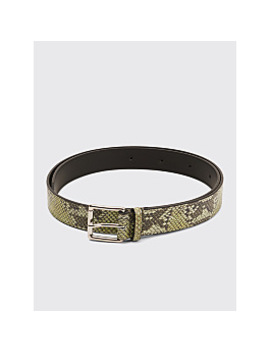 Très Bien Leather Belt Snake Atheris Green by Très Bien