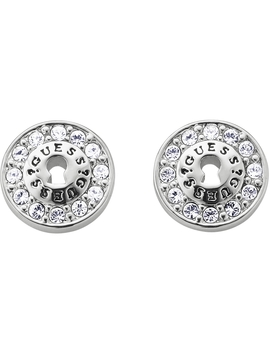Ladies Guess All Locked Up Silver Earrings by Guess Jewellery
