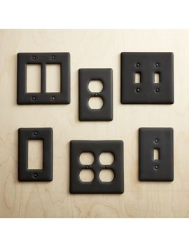 Black Ceramic Wall Plates by Crate&Barrel