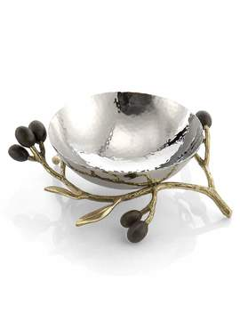Gold Olive Branch Nut Dish by Michael Aram