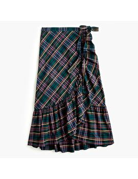Ruffle Wrap Skirt In J.Crew Signature Tartan by J.Crew