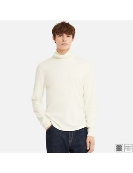 Men Uniqlo U Double Face Turtle Neck Long Sleeve T Shirt by Uniqlo