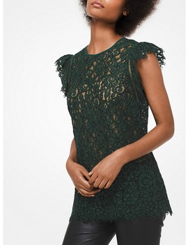 Corded Rose Lace Top by Michael Michael Kors