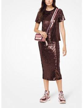 Sequined Jersey T Shirt by Michael Michael Kors