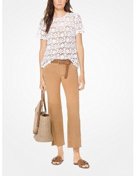 Mixed Floral Lace Top by Michael Michael Kors