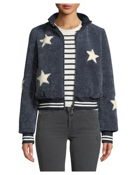 Sheepskin Star Baseball Jacket by Belle Fare