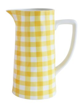 Yellow Gingham Pitcher by Zulily