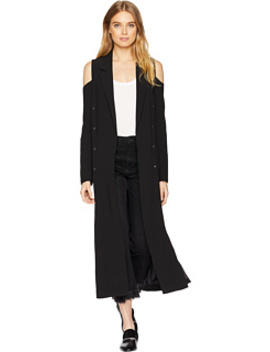 Cold Shoulder Long Blazer by Romeo & Juliet Couture