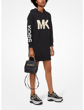 Studded Logo Sweatshirt Dress by Michael Michael Kors