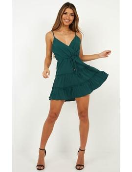 Hey Cutie Dress In Emerald Green by Showpo Fashion