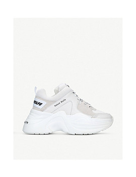 Track Leather And Mesh Sneakers by Naked Wolfe