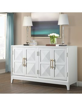 Mercer41 Aiello Four Door Geometric Front Sideboard by Mercer41