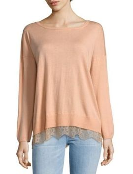 Hilano Lace Hem Sweater by Joie