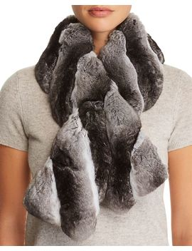 Chinchilla Fur Pull Through Scarf   100 Percents Exclusive by Maximilian Furs