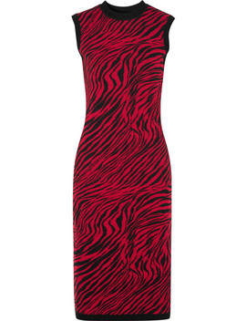 Zebra Print Cotton Midi Dress by Mc Q Alexander Mc Queen