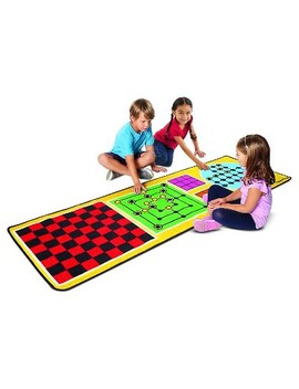 Melissa & Doug® 4 In 1 Game Rug (78.5 X 26.5 Inches)   4 Board Games, 36 Gamepc by Melissa & Doug