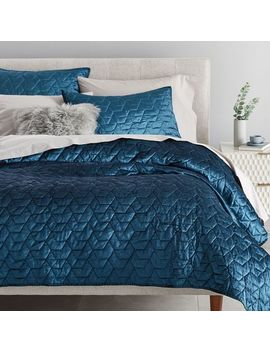 Luster Velvet Deco Quilt + Shams by West Elm