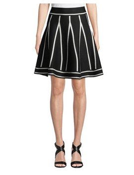 Full Flare Skirt With Contrast Stripes by Neiman Marcus