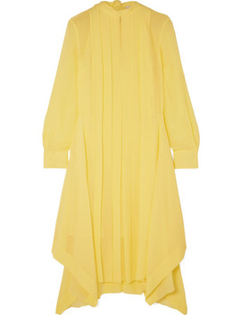 Pleated Silk Chiffon Dress by Chloé