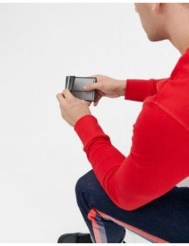 Asos Design – Schwarze Lederbrieftasche Mit Geldclip Und Grauer Innenseite by Asos