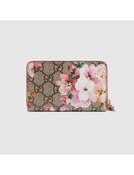 Portacarte Gg Blooms In Tessuto Gg Supreme by Gucci