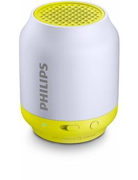 Philips Bt50   Altavoz Portátil Con Bluetooth (2 Watt, Diseño Compacto, Batería Recargable Integrada), Gris Y Lima by Philips Audio