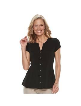Women's Dana Buchman Peplum Hem Shirt by Kohl's