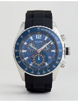 Accurist – Ms710 N – Schwarzer Chronograph Mit Silikonband by Asos